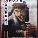 The SEVEN SAMURAI Akira Kurosawa ORIGINAL Movie POSTER Shichinin no samurai