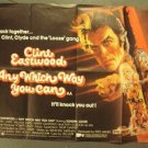 CLINT EASTWOOD  Any Which Way You Can  UK  BRITISH  Quad 1-Sheet POSTER  1980