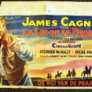 JAMES CAGNEY Belgium Original TRIBUTE TO A BAD MAN Movie Poster M.G.M. 60 years!