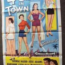FOUR GIRLS IN TOWN Vintage Cheesecake Pin-up 1-Sheet Movie POSTER Vintage Art 4