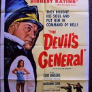 DEVIL'S GENERAL Original WWII  World War II 1-Sheet Movie POSTER Curt Jurgens