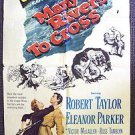 MANY RIVERS TO CROSS Original 1-Sheet Movie Poster ROBERT TAYLOR Eleanor Parker