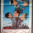 DON'T GO NEAR THE WATER 1-Sheet Movie Poster GLENN FORD Gia Scala  1957 ORIGINAL