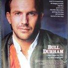 BULL DURHAM Original Rolled 1-Sheet BASEBALL Movie Poster KEVIN COSTNER Orion