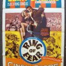 RING OF FEAR  1-Sheet Movie Poster MICKEY SPILLANE Clyde Beatty PAT O'BRIEN 1954