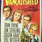 VANQUISHED John Payne WESTERN Poster Coleen Gray Original LINENBACKED 1953