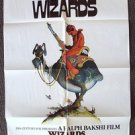 WIZARDS Original SCI-FI Fantasy ANIMATION 1-Sheet Poster Star Wars take-off
