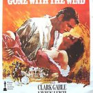 GONE WITH THE WIND Original M.G.M. Movie POSTER Clark Gable VIVIEN LEIGH MGM