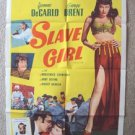 SLAVE GIRL Original R-56 1-SHEET Movie Poster YVONNE De CARLO Broderick Crawford