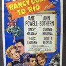 NANCY GOES TO RIO 1-Sheet  Poster CARMEN MIRANDA Jane Powell  ORIGINAL 1950