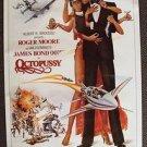 JAMES BOND 007 poster OCTOPUSSY Maude Adams  ROGER MOORE  Albert Broccoli 1983