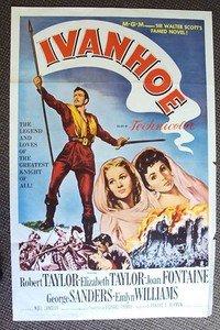 Elizabeth Taylor IVANHOE Original 1-Sheet POSTER Robert Taylor  M.G.M MGM