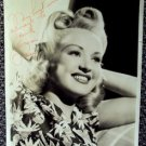 BETTY GRABLE Original SIGNED in Person AUTOGRAPH PHOTO for Warner Employee