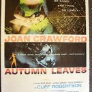 JOAN CRAWFORD Cliff Robertson AUTUMN LEAVES Original 1-Sheet Movie POSTER