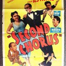 SECOND CHORUS Original 1-Sheet Poster PAULETTE GODDARD Fred Astaire 1940 Musical