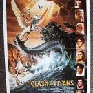 CLASH OF THE TITANS Advance 1-Sheet POSTER HARRY HAMLIN Maggie Smith Greek Myth