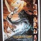 CLASH OF THE TITANS Advance 1-Sheet POSTER HARRY HAMLIN Maggie Smith Greek Myth