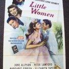ELIZABETH TAYLOR Original 1940's LITTLE WOMEN  1-Sheet  Poster  MARGARET O'BRIEN