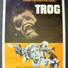 TROG  Original 1-Sheet Science Fiction POSTER Last JOAN CRAWFORD Film HORROR