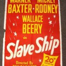 SLAVE SHIP Original 1-Sheet POSTER Warner Baxter WALLACE BEERY Mickey Rooney