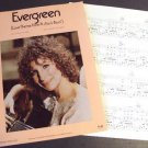BARBRA STREISAND a  STAR IS BORN  Evergreen Photo  SHEET MUSIC