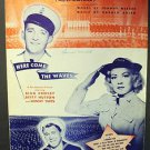 BING CROSBY Betty Hutton Original HERE COME WAVES Sheet Music Sonny Tufts