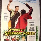 SWORD OF SHERWOOD FOREST Hammer POSTER Peter Cushing DRIVE-IN Rare STYLE