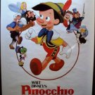 PINOCCHIO Original Walt Disney R84 Movie POSTER Jiminy Cricket  BUENA VISTA
