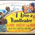 I LOVE A BANDLEADER Leslie Brooks PHIL HARRIS Original 1945 Vintage Movie POSTER