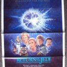 RETURN OF THE JEDI Original 1985 Movie Studio Rolled  POSTER Star Wars
