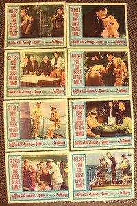 ASSAULT ON A QUEEN Frank Sinatra VIRNA LISI Original LOBBY CARD Set of 8 Color