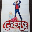GREASE Original Rare Artwork Advance  POSTER Olivia Newton-John  JOHN TRAVOLTA