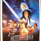 "RETURN OF THE JEDI Original ""B""  Movie POSTER Star Wars CAST SHOT Never Hung!!!!"