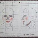 EMMA DUNN Original Make-up Chart WARNER BROS Studios WOMAN IN WHITE 1948