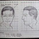DEREK SCOTT Original Make-up Chart WARNER BROS Studios LIFE IN WITH FATHER