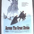 ACROSS THE GREAT DIVIDE Window Card POSTER Indian ROBERT LOGAN Heather Rattray