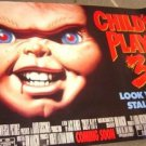 CHILD'S PLAY 3 Original SUBWAY Promotion Movie Poster CHUCKY DOLL Horror Huge!