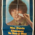 MAC DAVIS Original CHEAPER TO KEEP HER 1-Sheet  Movie POSTER