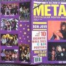 MOTLEY CRUE Jon Bon Jovi KISS Stryper GUNS N' ROSES Ozzy Osbourne POSTER Book