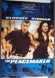 GEORGE CLOONEY Nicole Kidman PEACEMAKER Original 1-Sheet ROLLED Movie POSTER Dbl