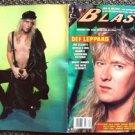 DEF LEPPARD Joe Elliott MOTLEY CRUE Bon Jovi SKID ROW BLAST Heavy Metal Magazine