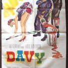 DAVY Original 1-Sheet Movie Poster M.G.M. Harry Secombe MGM Alexander Knox 1958