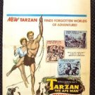 TARZAN the APE MAN Window Card POSTER Denny Miller JOANNA BARNES Original 1959