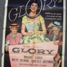 MARGARET O'BRIEN Original GLORY Movie 1-Sheet POSTER Walter Brennan RKO PiCTURES