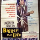 BIGGER THAN LIFE James Mason ORIGINAL 1-Sheet Movie POSTER Barbara Rush 1956 FOX