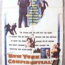 New York Confidential N.Y. 1-Sheet Movie Poster ORIGINAL Anne Bancroft CRAWFORD