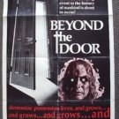 BEYOND THE DOOR Original HORROR Exorcist 1-Sheet POSTER Juliet Mills CULT Satan