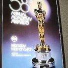 58th ORIGINAL Academy Awards ABC Promo TV POSTER Oscar Statue 1986  Television