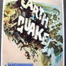 EARTHQUAKE Original UNIVERSAL STUDIOS Attraction POSTER theme Park 1974 Tram