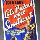 LET'S PRETEND WE'RE SWEETHEARTS  3-Sheet Poster LOLA LANE  In Paris A.W.O.L 1936
